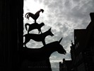 Silhouette of Bremer Stadtmusikanten - Town Musicians of Bremen - Germany