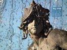 Countries - Germany - Sculpture under Water Fountain - Stürmische Wogen - Dresden Neustadt