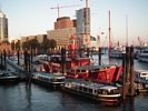 Hamburg Harbor - Old Fire Boat Converted to a Restaurant