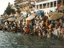 Sunrise at the shore of the Ganges River