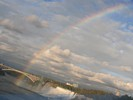 Rainbow over Rainbow Bridge and American Falls