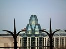 National Gallery of Canada - View from behind the fence of Parliament Hill