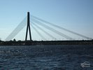 Vansu Bridge over the river Daugava in Riga - Latvia