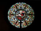 Stained Glass Window in Church in Gülzowshof - Western Pomerania - Vorpommern - Germany