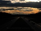 Sunset over Highway 401 in Ontario - Canada