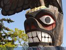 Totem Pole In Victoria - British Columbia - Canada
